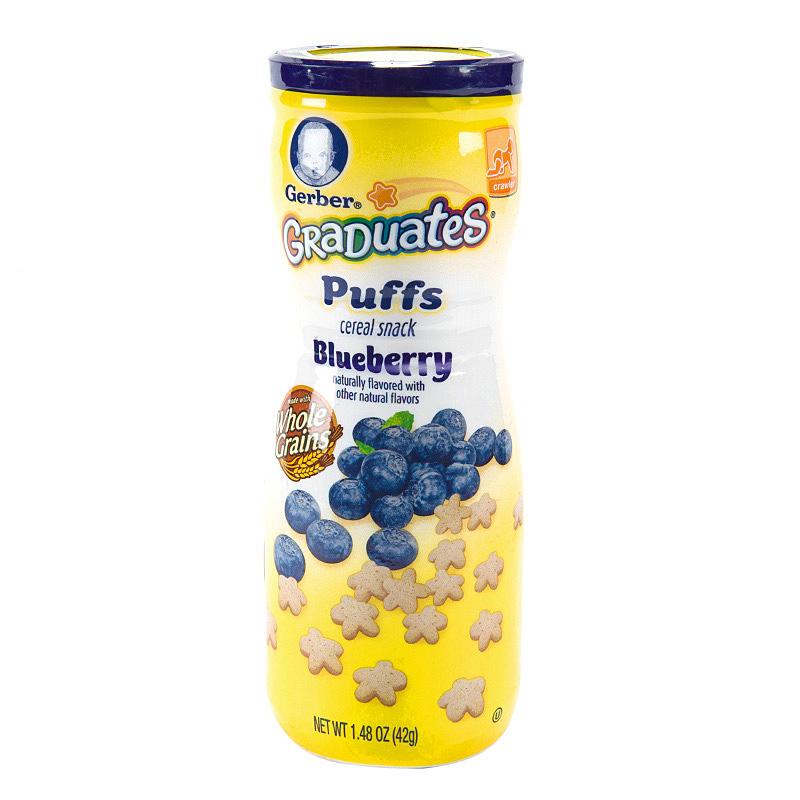 嘉宝Gerber蓝莓味星星米饼42g盒