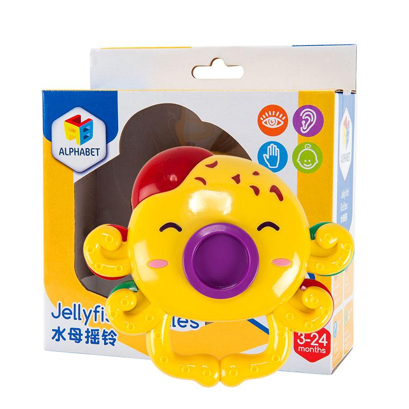 字母婴幼儿玩具水母摇铃