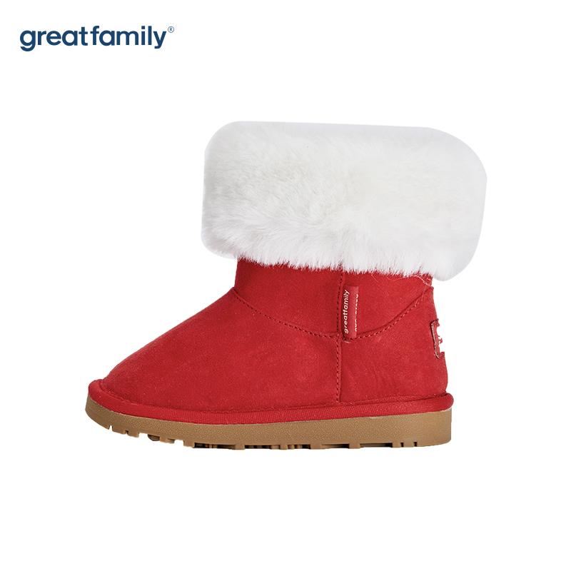 歌瑞家(greatfamily)女婴雪地靴GKS-012SH红