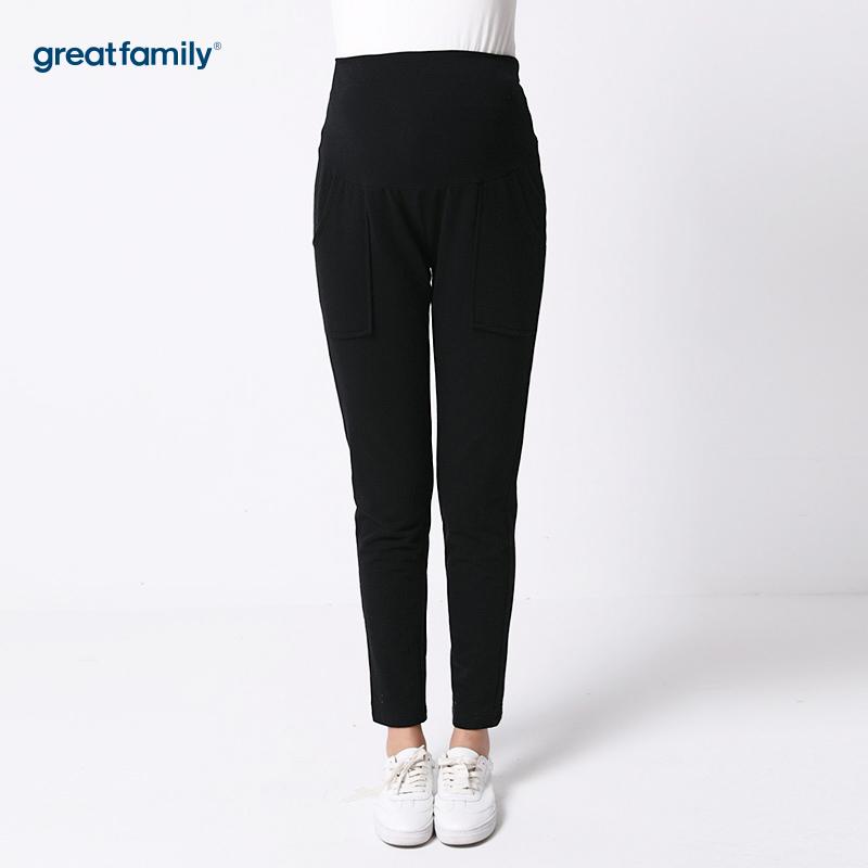 歌瑞家(greatfaimly)贴袋直筒裤黑