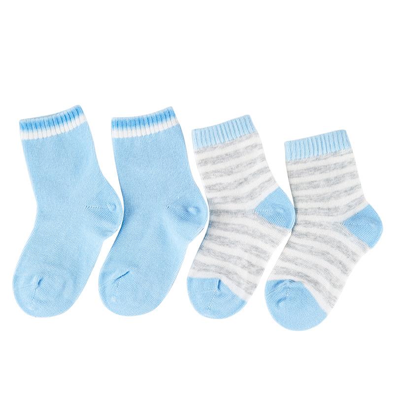 歌瑞家greatfamily基础系列男童平纹短袜(2双装)