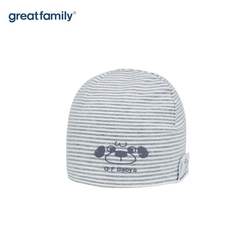 歌瑞家A类男童灰色针织帽子