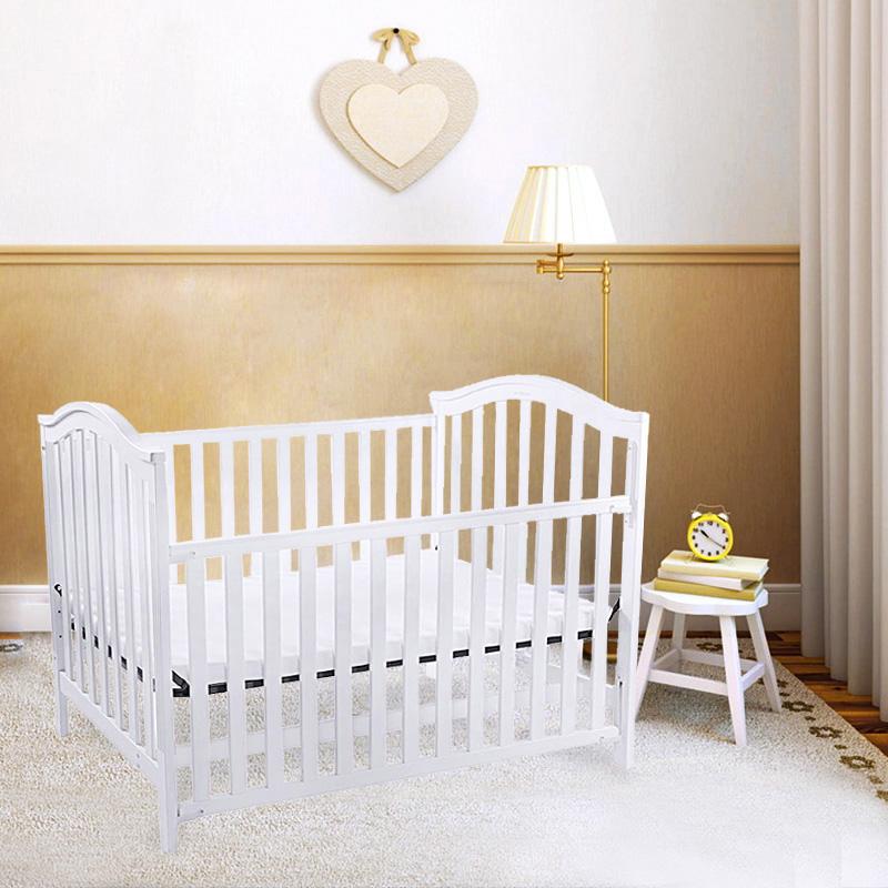 宜柏(Embrace)实木松木婴儿宝宝用高品质美式加大床