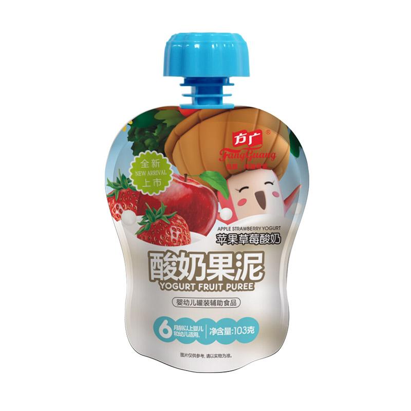 方广苹果草莓酸奶果泥103g