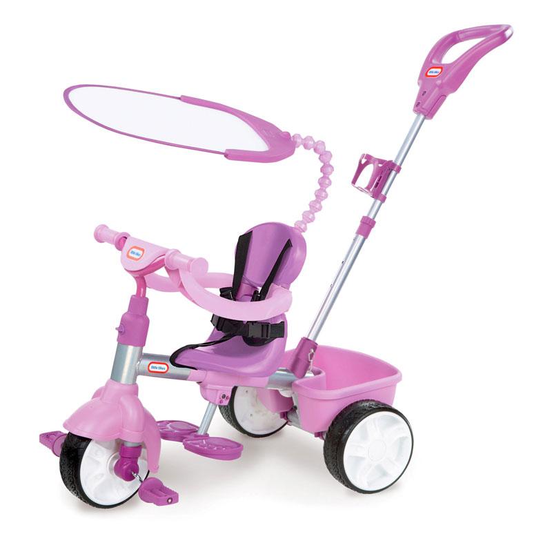 小泰克(Littletikes)3合1推行三轮车(紫色)9-36个月