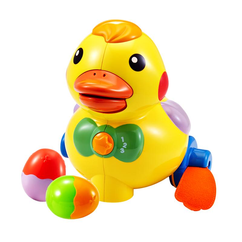 澳贝(Auby)下蛋乖乖小鸭幼儿学爬行宝宝玩具