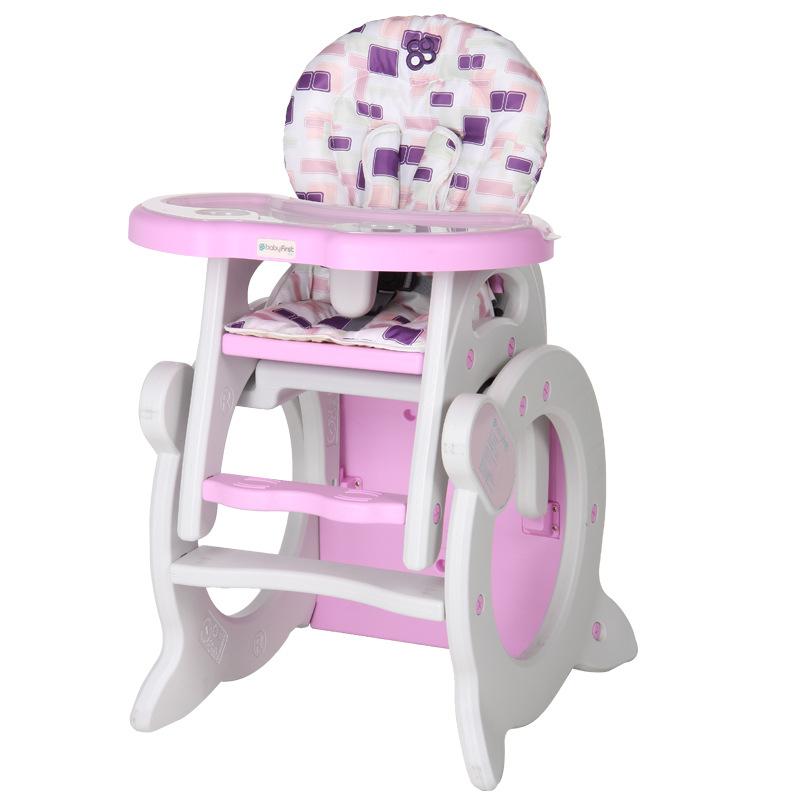 宝贝第一(Babyfirst)QQ·MI吹塑高椅几何空间红