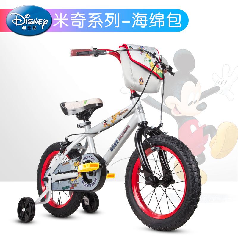 贝乐童车迪士尼系列米奇海绵包自行车14寸 灰色