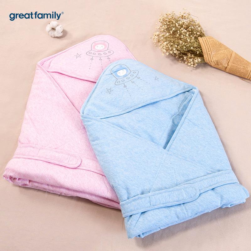 歌瑞家(Greatfamily)A类花纱抱被蓝色90*90cm