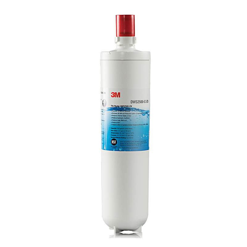 3M净享净水器主滤芯DWS2500-CN过滤器滤芯无需插电无废水