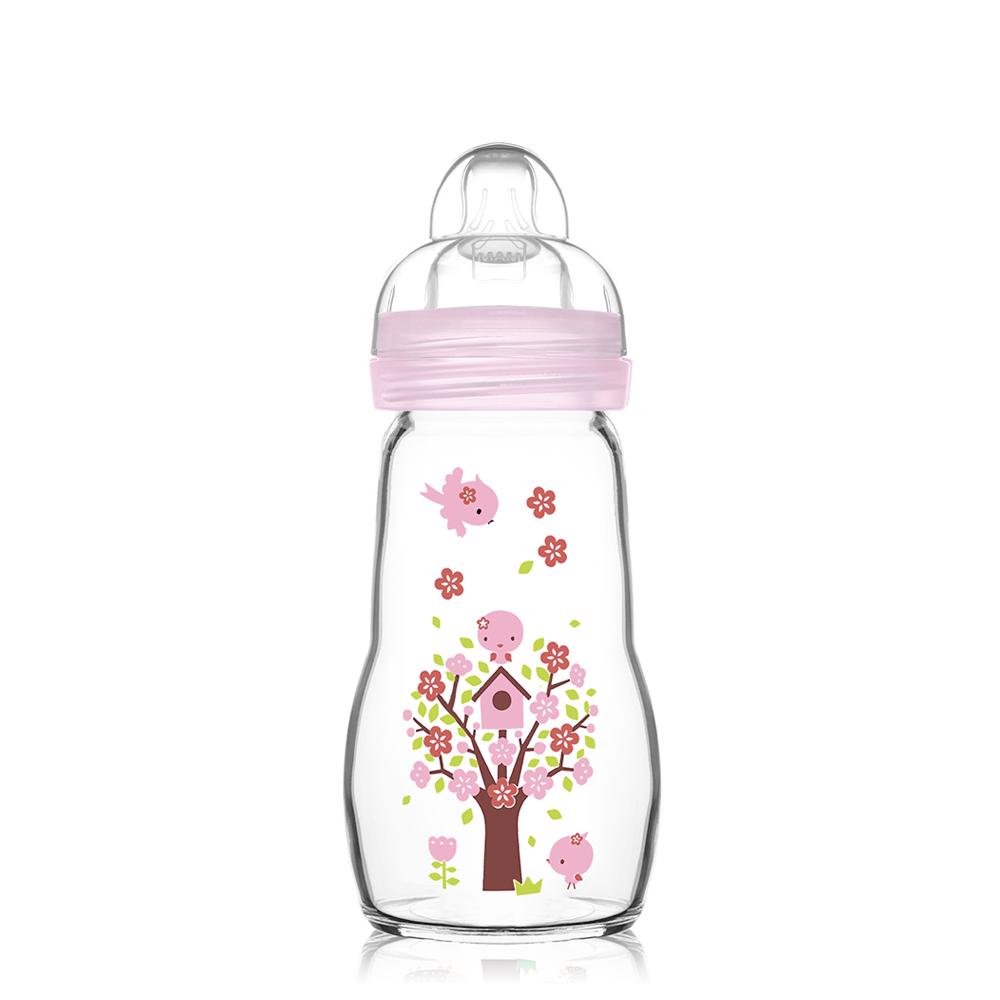 MAM晶彩耐温玻璃奶瓶260ml