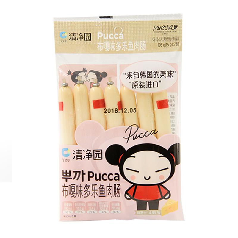 清净园布嘎味多乐鱼肉肠(芝士味)105g/袋