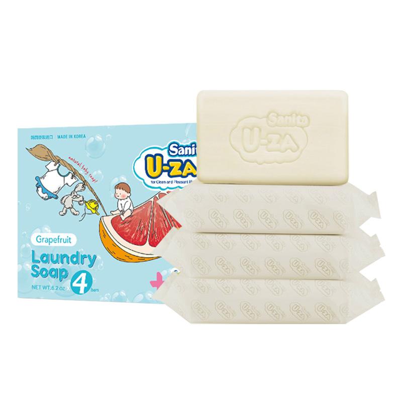 U-za--婴幼儿柚子洗衣皂四联装176g*4块/组
