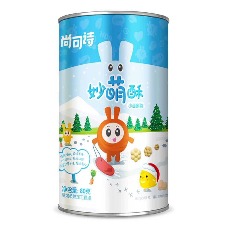 尚可诗妙萌酥(小画家篇)80g曲奇饼干