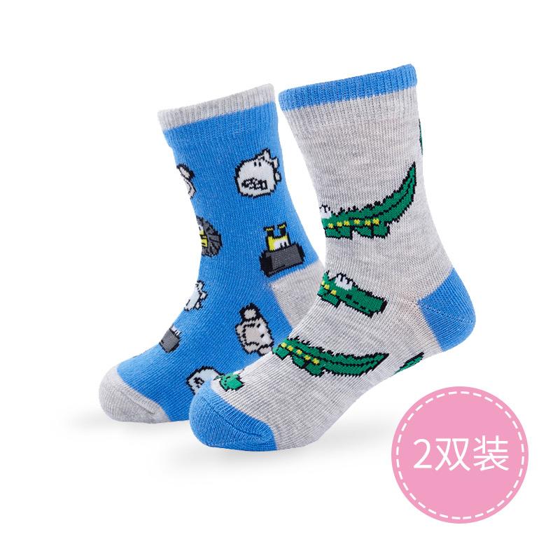 歌瑞贝儿精梳棉淘气卡通袜2双装