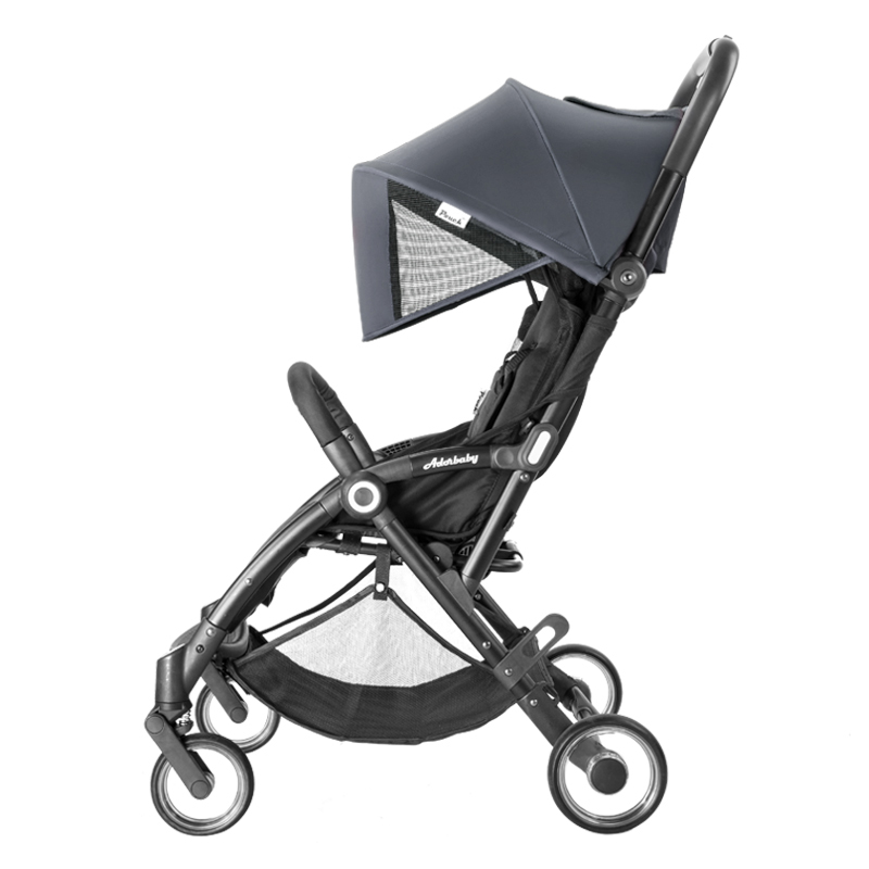Pouch婴儿推车超轻便可坐可躺便携式伞车折叠婴儿车儿童手推车 A32 灰色
