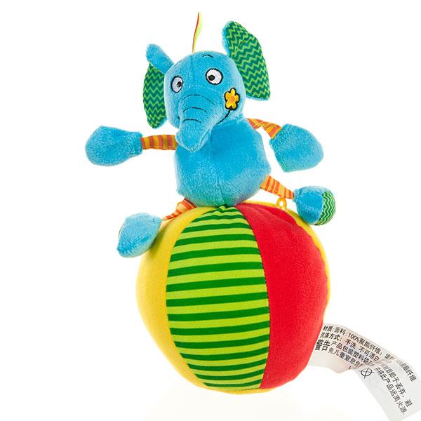 字母响铃玩偶球大象 益智毛绒玩具