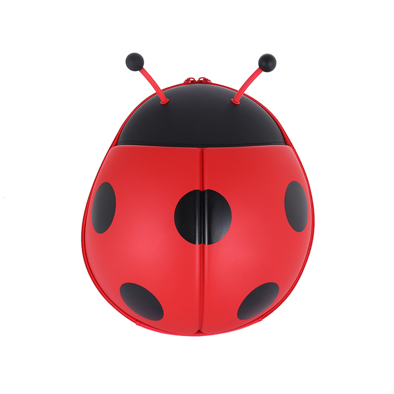 Supercute红色男女通用立体瓢虫背包