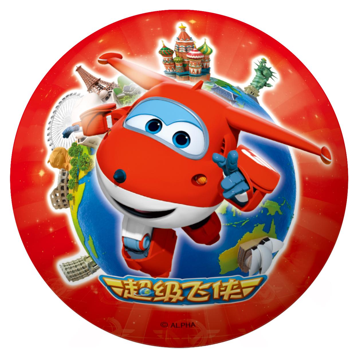 伊诺特10厘米超级飞侠彩印球(颜色随机)