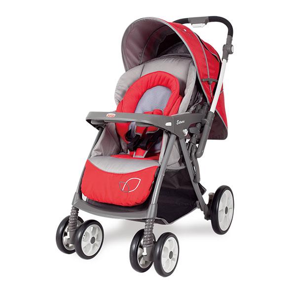 Joie巧儿宜易捷儿双向手推车红灰0至3岁英国品牌铝合金车架单手收合