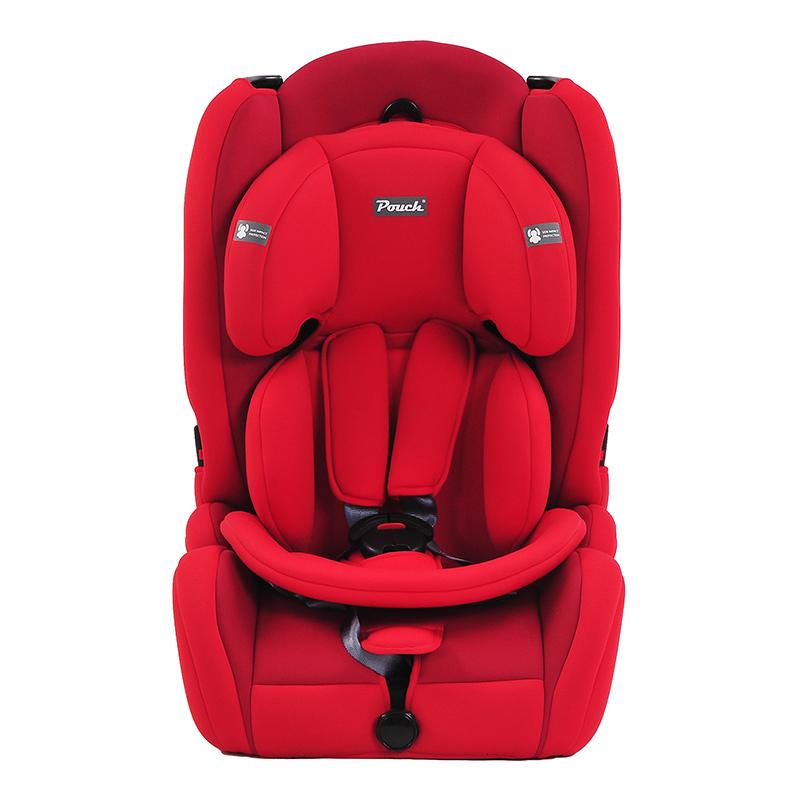Pouch适用9个月-12岁便携式车载宝宝安全座椅Q19-1红色