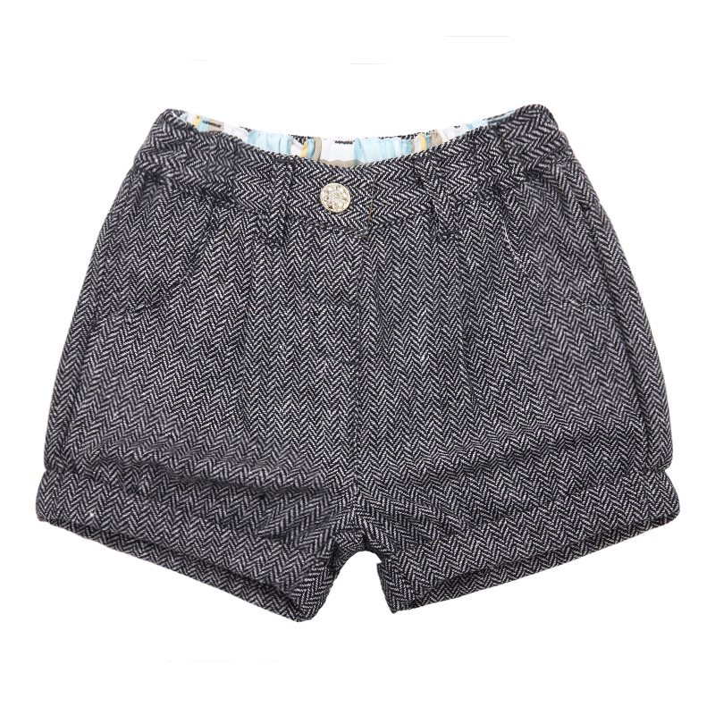 歌瑞家A类灰色女童金银丝短裤
