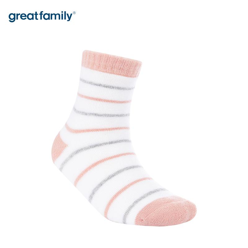 歌瑞家A类条纹女童中筒袜