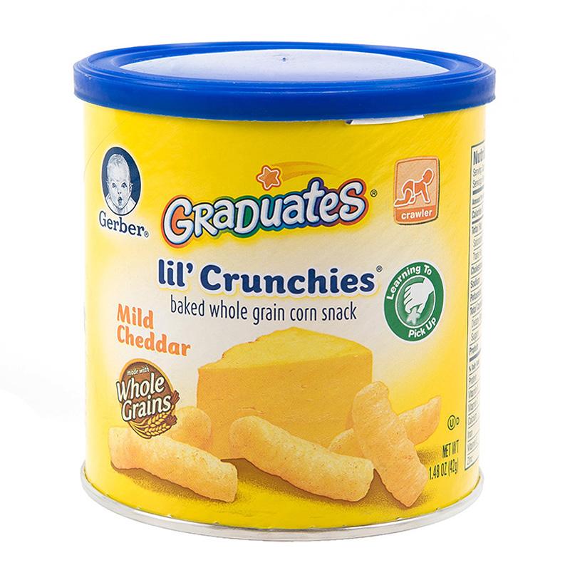 嘉宝Gerber泡芙条切达奶酪口味42g盒