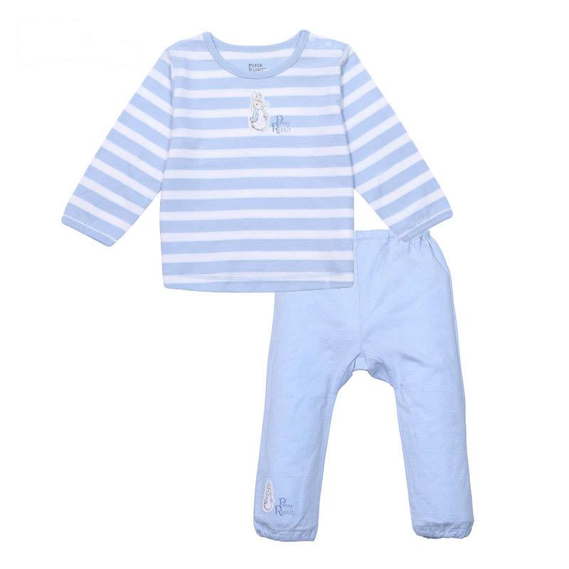 歌瑞家(比得兔)A类男女宝宝单面布肩开套装2色可选