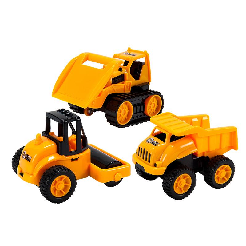 字母婴幼儿益智趣味玩具惯性带动作工程车(款式随机)