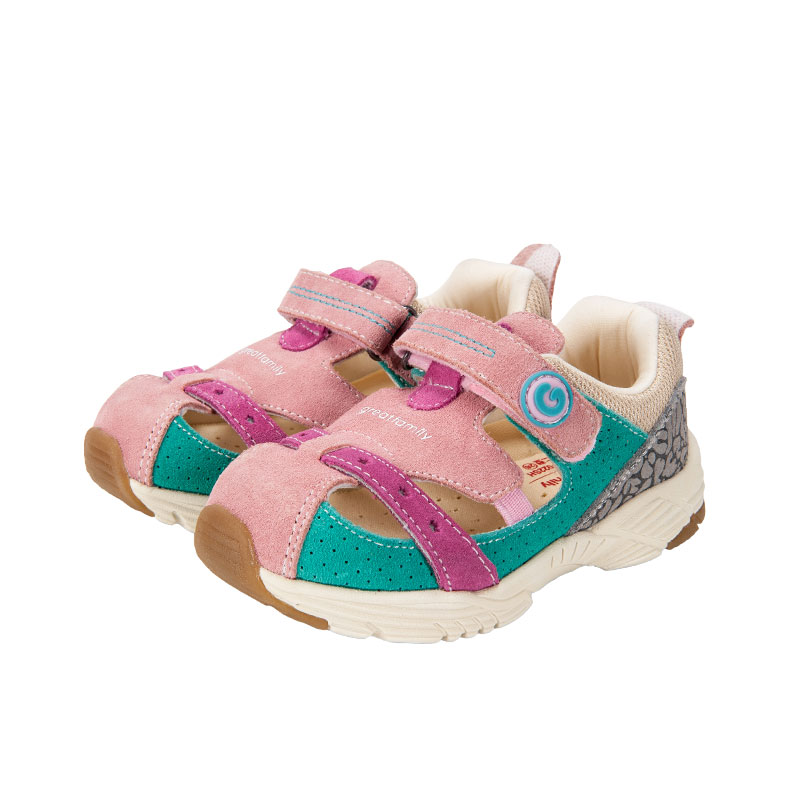 歌瑞家greatfamily女婴机能鞋粉