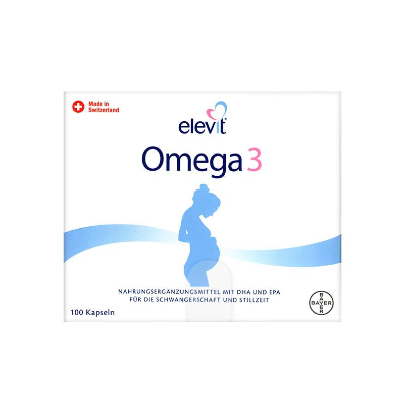 【乐海淘】Elevit爱乐维孕妇DHA Omega3鱼油胶囊 100粒/盒 保税区直发