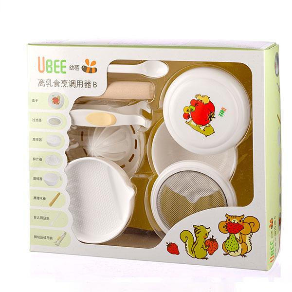 幼蓓Ubee离乳食烹调用器B 食品调理期 辅食加工器 安全耐热可微波