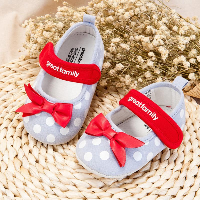 歌瑞家(greatfamily)女婴公主宝宝鞋GB181-007SH紫色11CM双
