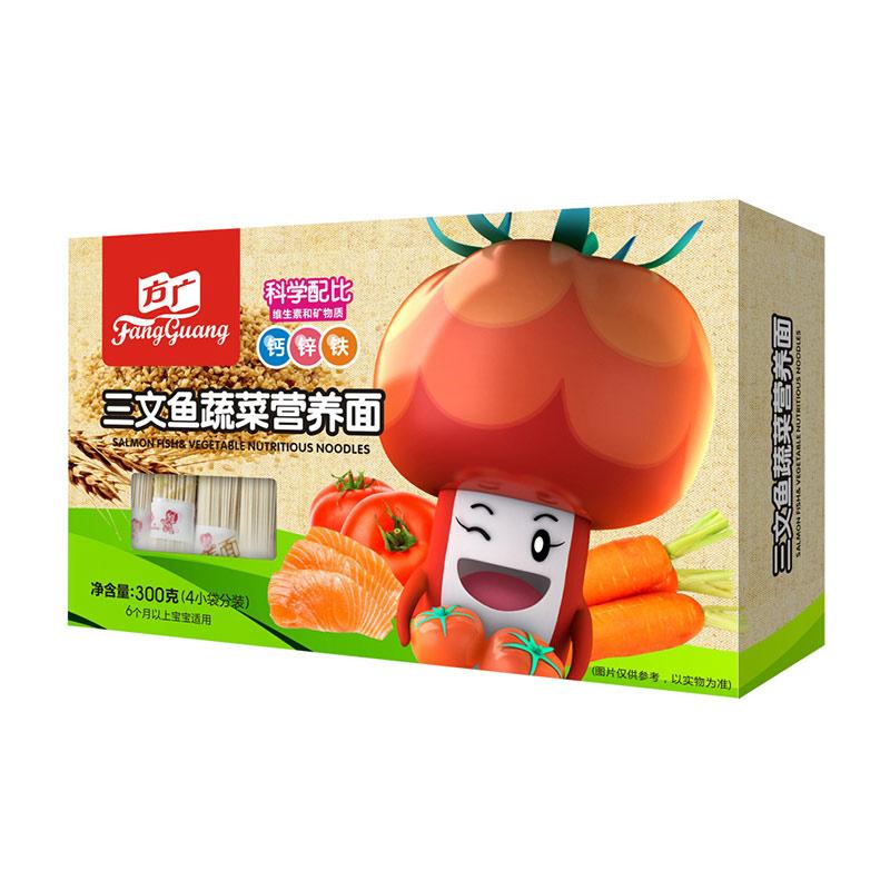 方广三文鱼蔬菜面300g6个月以上