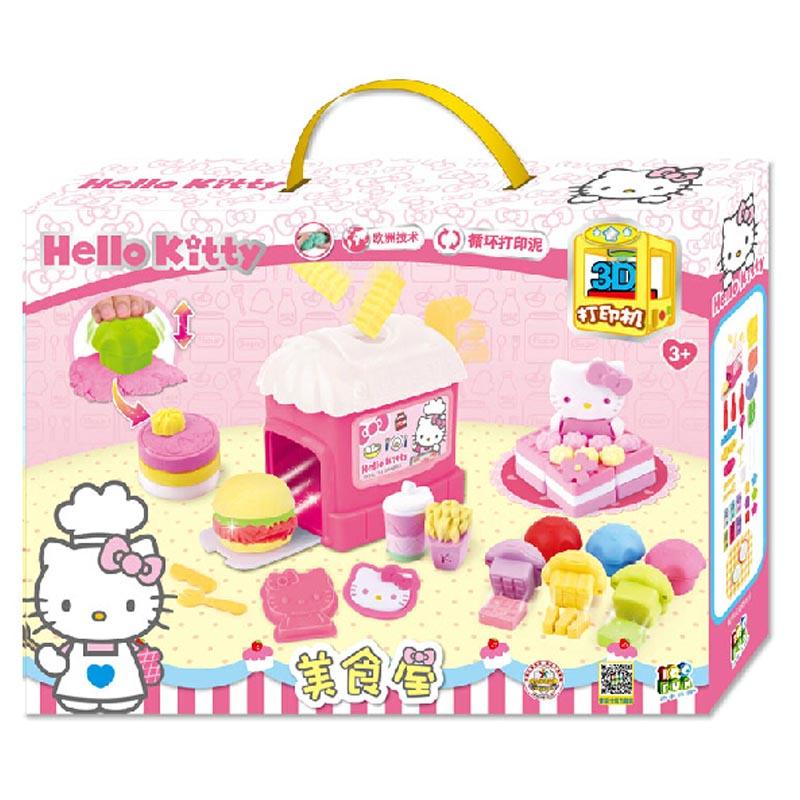 壹佰分Hello Kitty3D打印机diy超轻 粘土 美食屋彩泥/ 橡皮泥