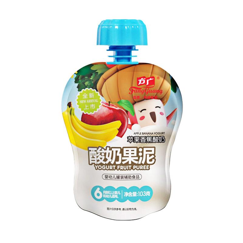 方广苹果香蕉酸奶果泥103g