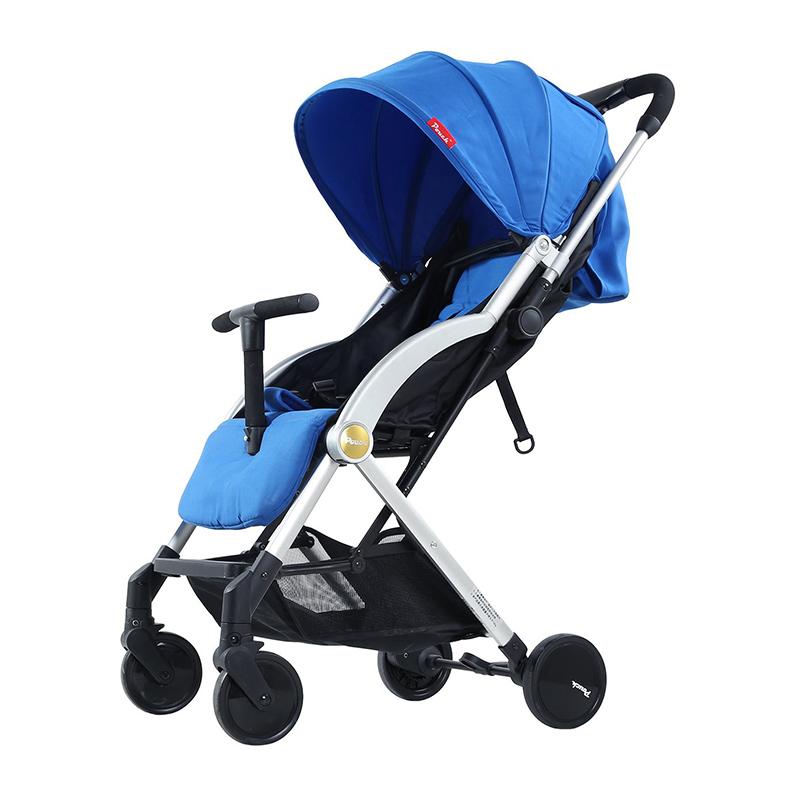 Pouch轻便易折叠婴儿旅行手推车A22蓝色