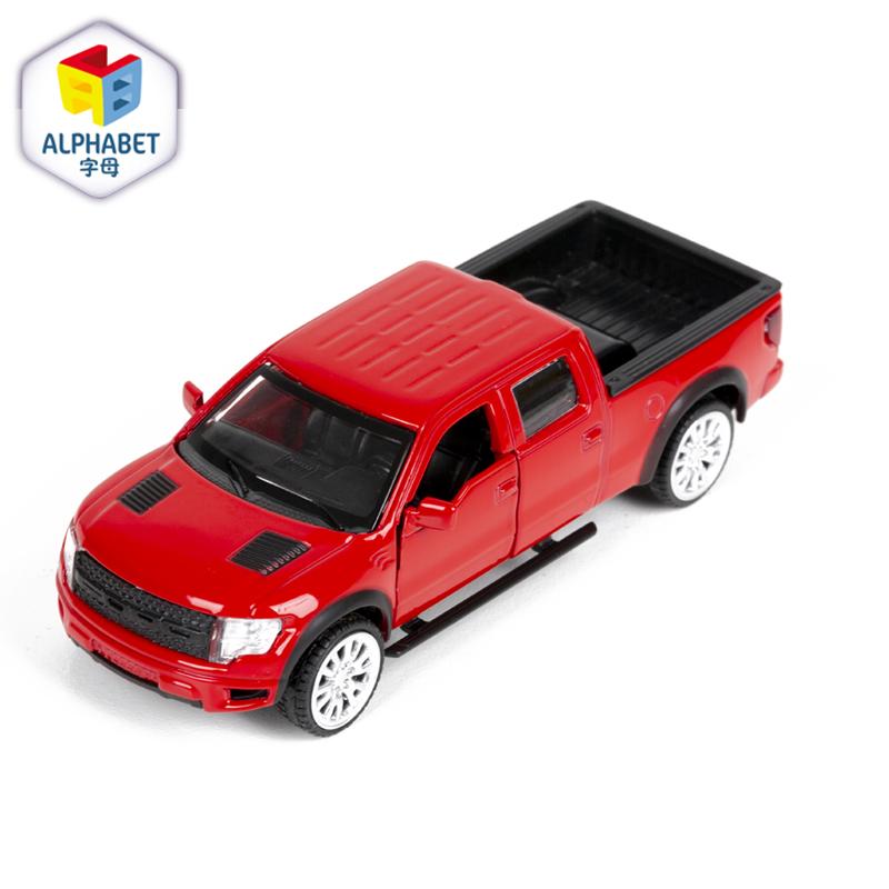 字母ALPHABET合金车(1:52福特F-150 红色)