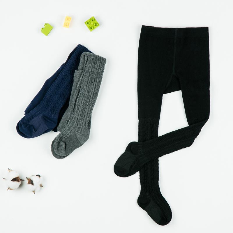 歌瑞家A类女童黑色长筒连裤袜