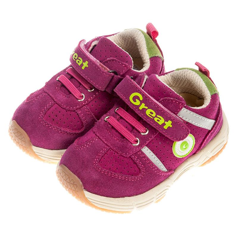 歌瑞凯儿女婴机能鞋GK153-022SH桃红13.5cm双