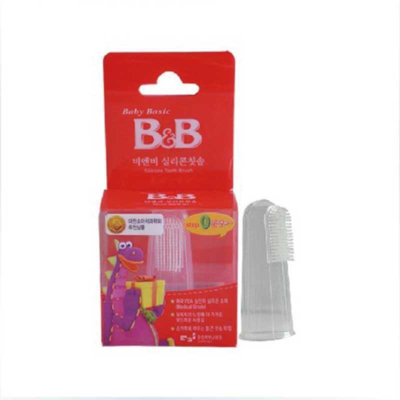 保宁B&B韩国进口宁硅胶指套牙刷