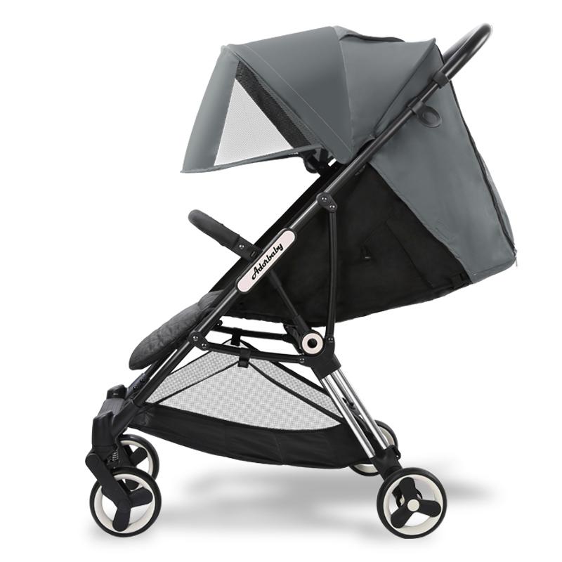 Pouch儿童折叠三轮车骑行滑行二合一免充气EVA轮轻便减震安全骑行 A33 灰色