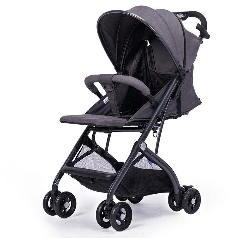 宝宝好婴儿推车QZ1高景观可坐可躺轻便折叠伞车QZ1-506月光灰