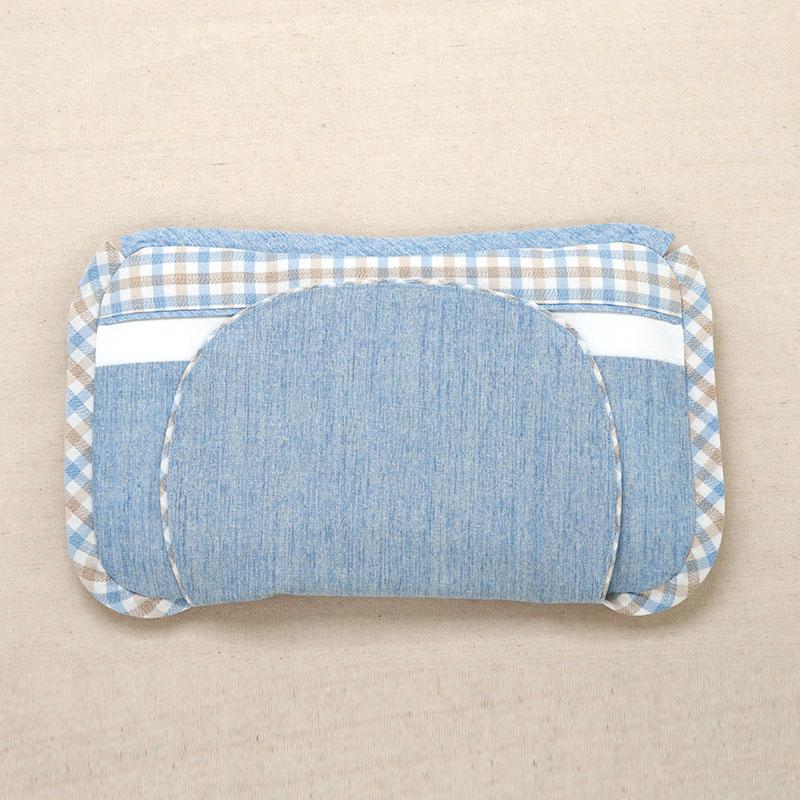 良良格彩新生儿保健枕35*19(cm)蓝LL16A01-2B