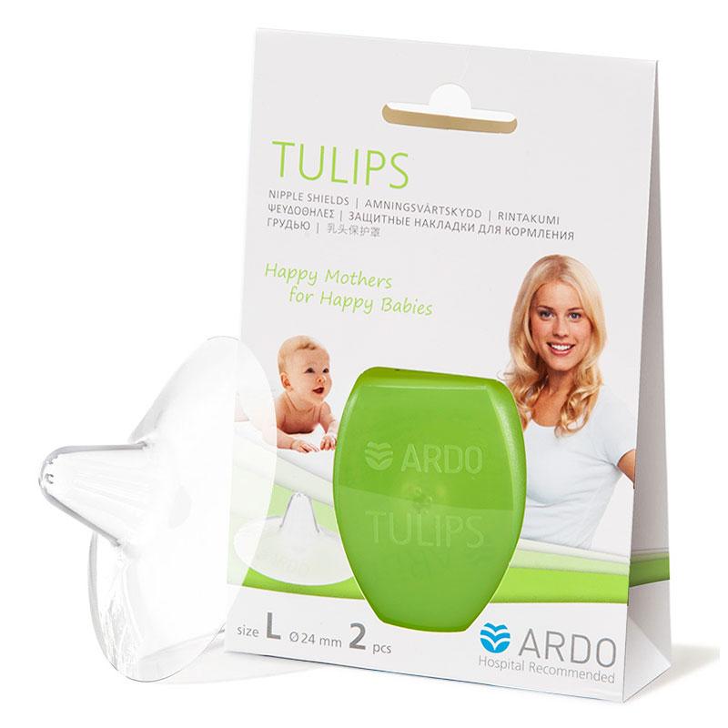 安朵ARDO瑞士进口郁金香乳头保护罩L码天然硅树脂材质圆锥形入口乳头