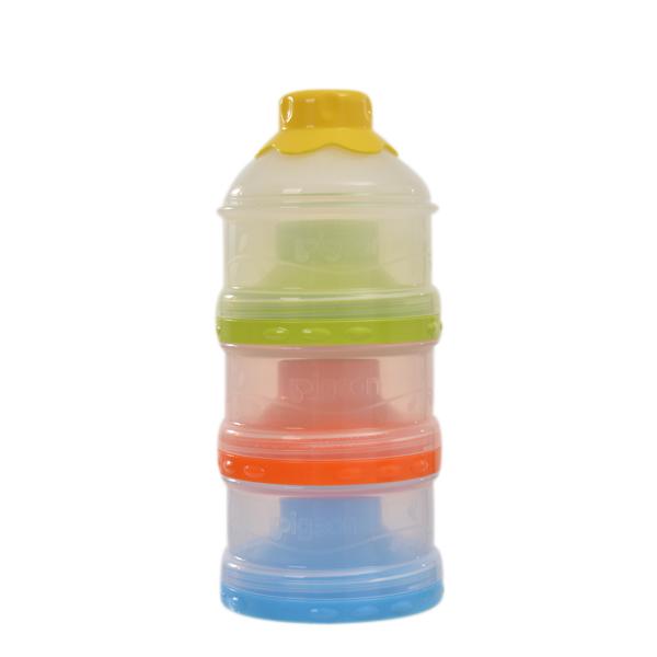 贝亲Pigeon大容量独立开口三层奶粉盒(110ml*3)便携奶粉盒