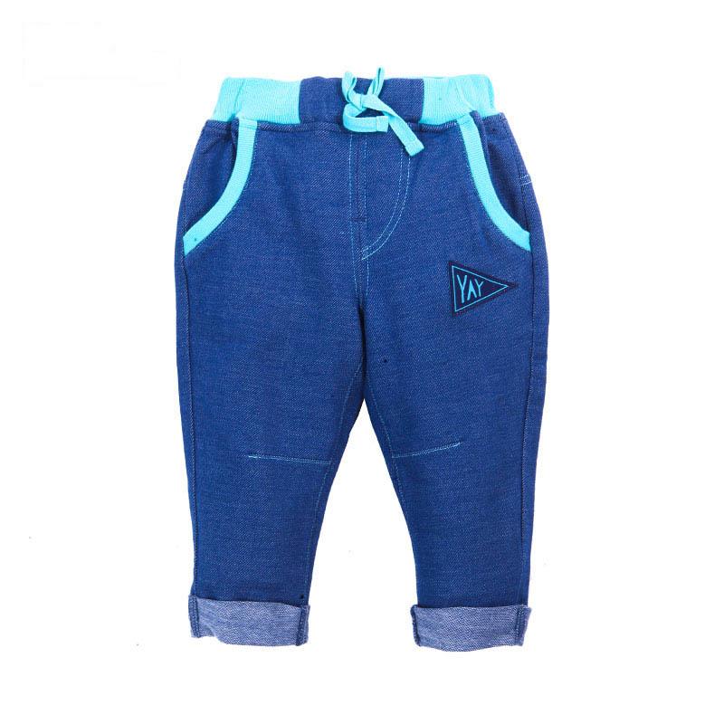 歌瑞家A类男宝宝蓝色针织牛仔裤