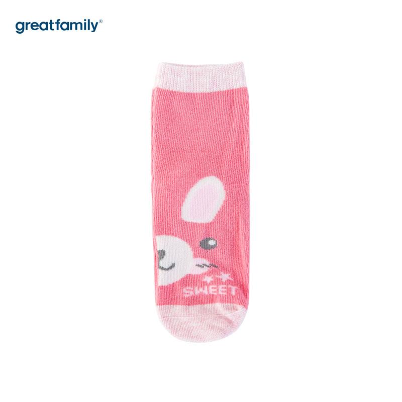 歌瑞家(Greatfamily)A类粉色纯棉女童中袜