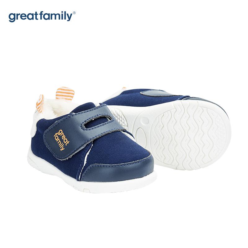 歌瑞家(greatfamily)男婴可爱动物宝宝鞋GBS4-024SH蓝
